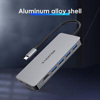 LENTION USB-C to USB 3.0 Data Hub Dual HDMI AV Adapter for iMac MacBook Windows