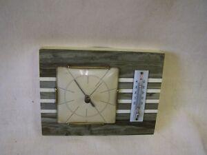 Altes Hygrometer + Thermometer 50er 60er Jahre Kult Retro Design
