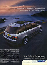 PUBLICITE ADVERTISING  2003   FIAT  le monospace  STILO MULTI WAGON