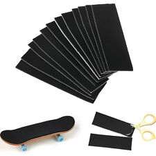 12 Pcs Wooden Fingerboard Deck Uncut Sandpaper Grip Tape Stickers 110mm X 35mm