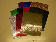 "vinyl self adhesive variety glitter flake 4""x 6"" x 5 mil thk (11) sheets"