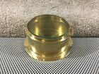 """Vintage Brass 6"""" Ship Clock Case Only 3 1/2 Lbs"""