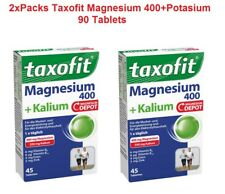 2x Packs TAXOFIT Magnesium 400+Potassium Food Supplement (90 Tablets) *GERMANY*