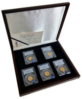 George V Gold Sovereign 5 Coin Set - India, Canada, Australia, S Africa, GB PCGS