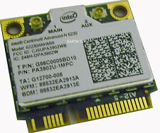 Toshiba G86C0005BD10 Advanced-N 6230 62230ANHMW a/b/g/n WiFi Bluetooth PCIe Half