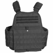 Mil-Tec Tactical Padded Military Vest MOLLE Ballistic Plate Carrier Police Black
