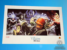 Villains Lithograph by Alex Ross Artist Marvel Comics Universe Limited Edition
