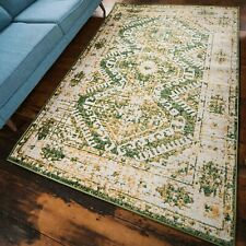 Large Green Rugs Medallion Traditional Moroccan Forest Green Hallway Runner Mats