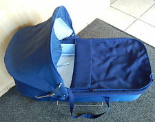 EMMALJUNGA BASSINET NAVY BLUE WITH SUN COVER
