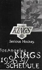 1996-97 NHL HOCKEY SCHEDULE - LOS ANGELES KINGS