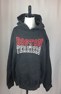 Boston University Terriers Gray Youth Large 10-12 Hoodie Sweatshirt NEW