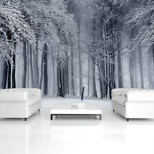 Wall Mural Photo Wallpaper Picture EASY-INSTALL Fleece White Winter Forest Snow