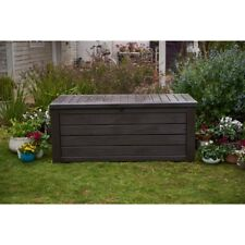 Keter Westwood 150 Gallon Patio Outdoor Resin Deck Box in Brown