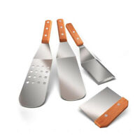 2X(Metal Spatula Set of 4, Stainless Steel Griddle Spatula Scraper Tools Set wit