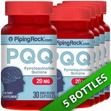 Piping Rock PQQ 20mg Pyrroloquinoline Quinone 5X30Caps-Brain/Mental Focus/Cardio