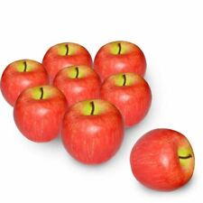 8 Pcs Foam Artificial Lifelike Simulation Solid Apple Model Fake Fruit for I5A5