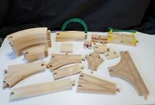 Wood Toy Train Tracks 32 pieces