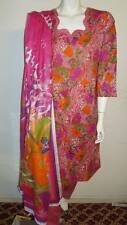 "Beautiful 3pcs 100% Cotton Lawn Salwar/Shalwar Kameez & Dupatta Suit M. Size 40"""