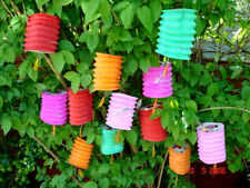 10 CHINESE M&S COLOR 12 & 10cm PAPER LANTERN WEDDING BIRTHDAY JAPANESE PARTY NP