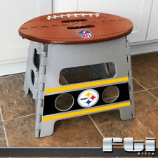 """Pittsburgh Steelers NFL Football Light Weight Durable Folding Step Stool 14x13"""""""