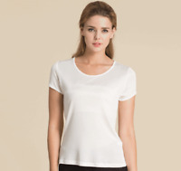 Women's 100% Silk T-Shirt Short Sleeves Base Layer Top Shirt  S M L XL