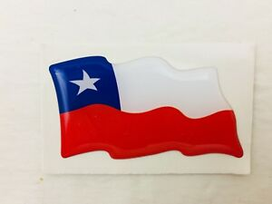 CHILE Flag Emblem Sticker Decal Country FLAG of Chile - NEW - #390A