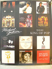 "POSTER MICHAEL JACKSON ""KING OF POP""  album covers bad thriller etc"