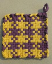 New listing Hand Made Pot Holder Hot Pad Purple Yellow Lsu Colors 262608