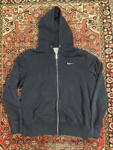 Nike Zip Up Hoodie Mini Swoosh Navy Men's Size Large
