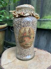 More details for antique swiss coffee bean glass jar by j.f deshusses rare sealed shop display