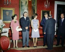 President and Mrs. John F. Kennedy meet Latin American diplomats New 8x10 Photo