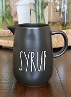Rae Dunn –  SYRUP Pour Pitcher Carafe -  LL Black Matte Breakfast Chocolate Chip