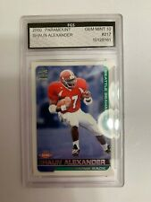 2000 Paramount Shaun Alexander Rookie Card Graded Gem Mint 10