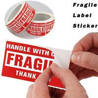 Zerbrechlich Aufkleber Sticker Etiketten Vorsicht Glas Versand Umzug Paket Neu