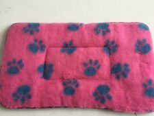 CAT SMALL DOG PET FUR BLUE PINK BED MAT WASHABLE 27-16""