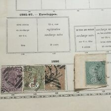 4 Timbres CEYLAN CEYLON 1886 Possession Anglaise English Stamps 19thC