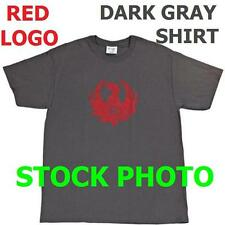 New RUGER RED Logo MEDIUM Gray Tee Shirt Licenced Official Genuine Original