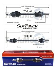 For Toyota Echo Scion xA xB FWD Pair of Front CV Axle Shafts SurTrack Set