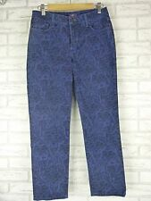 NOT YOUR DAUGHTER'S JEANS NYDJ Sz 6 Blue w/ blue print