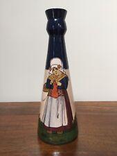 Vintage Holland Dutch Art Pottery Vase Signed, Dutch Girl