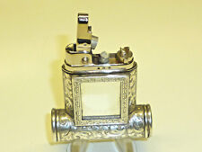 ROWENTA PETROL LIGHTER - 925 STERLING SILVER CASE WITH LIPSTICK & MIRROR - NICE