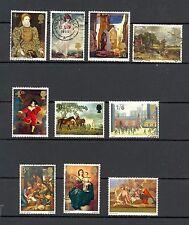 GB QEII 1967 Paintings, 1967 Christmas Paintings, 1968 Paintings, full sets FU