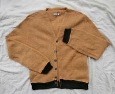 Vintage Kurt Cobain Grunge Rockabilly Cardigan Sweater Medium Mohair Fuzzy Wool