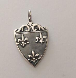Sterling Silver Oxidised Shield Pendant