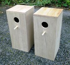 "Pair Of Cockatiel Parakeet Nest Nesting Breeding Boxes  18"" x 8"" x 8"""