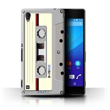 STUFF4 Case/Cover for Sony Xperia M4 Aqua/Retro Tech/Compact Cassette Tape