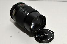 Rokinon mc 1:2.8 f=135 camera lens FOR KONICA Mount clear, clean glass