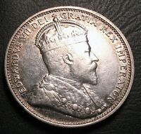 OLD CANADIAN COINS RARE 1902 CANADA TWENTY FIVE CENTS FREE SHIPPING US AND CA