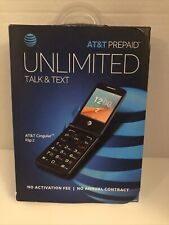 At&T Prepaid Cingular Flip 2 Cell Phone - 4Gb-Gray- 4G Lte - Factory Sealed!