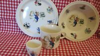 Brendan Erin Stone 4 Pc Nursery Rhymes Bowl Plate Cup Egg Ireland Child's